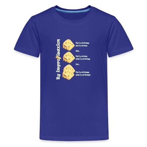 Moins il y a de fromage ? - T-shirt Premium Ado