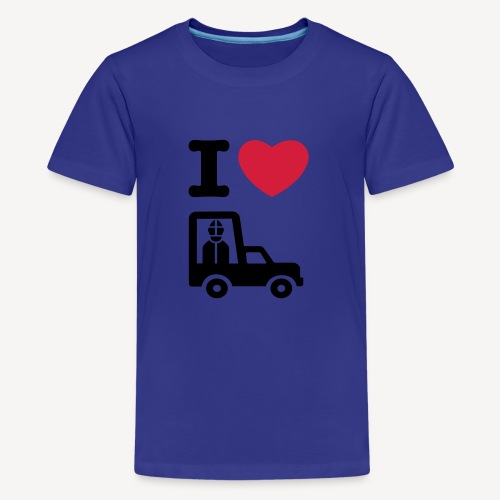 Papst im Auto - Teenage Premium T-Shirt