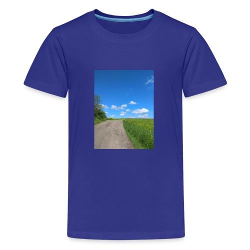 Landschaft Weg Himmel Geschenidee - Teenager Premium T-Shirt
