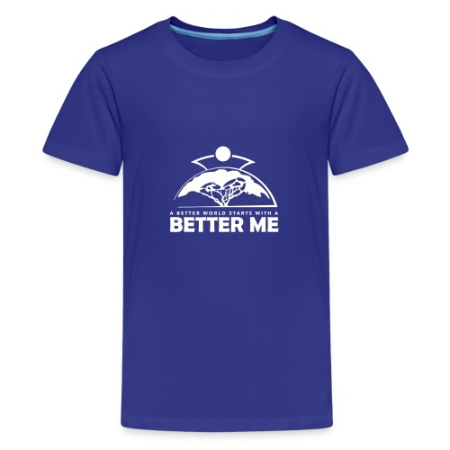 Better Me - White - Teenage Premium T-Shirt