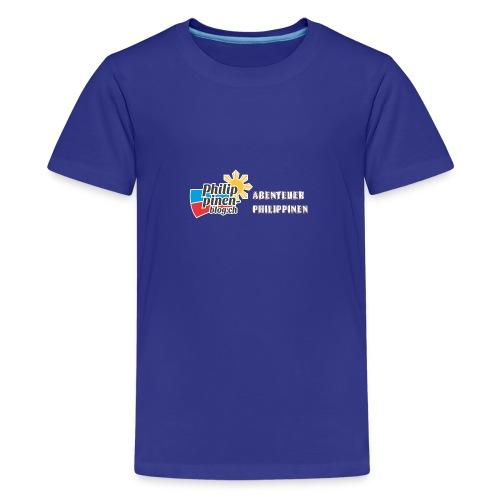 Philippinen-Blog Logo deutsch orange/weiss - Teenager Premium T-Shirt