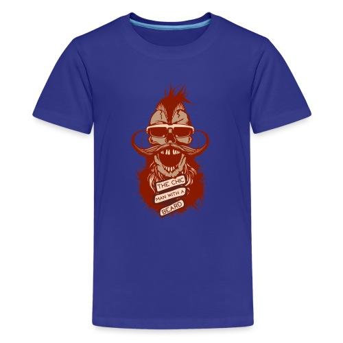 tete de mort hipster skull crane citation chic man - T-shirt Premium Ado