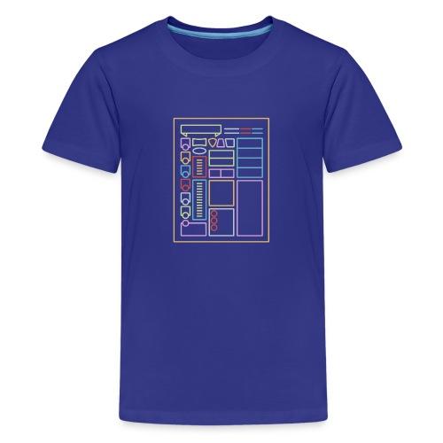 Hoja de caracteres Dnd - Camiseta premium adolescente