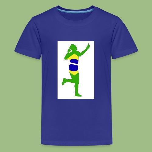 Neymár Brazil - Premium-T-shirt tonåring