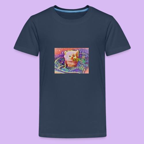 Gattino scintillante nella tasca dei jeans - Maglietta Premium per ragazzi
