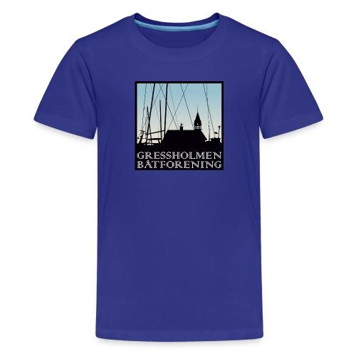 logo - Premium T-skjorte for tenåringer