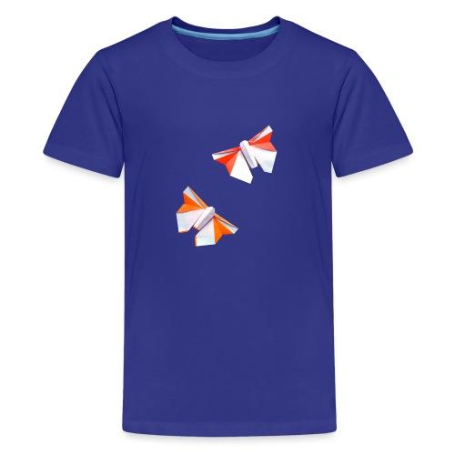 Butterflies Origami - Butterflies - Mariposas - Teenage Premium T-Shirt