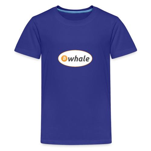 Bitcoin Whale - Teenage Premium T-Shirt