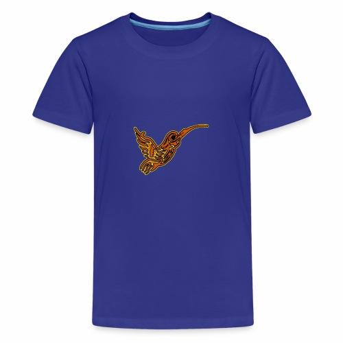 Colibri tête de mort rouge - T-shirt Premium Ado