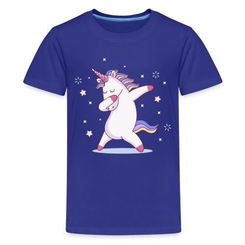 kids unicorn dab - Teenager Premium T-Shirt