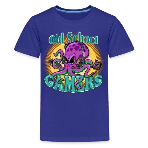 Old School Octopus Gamers - Camiseta premium adolescente
