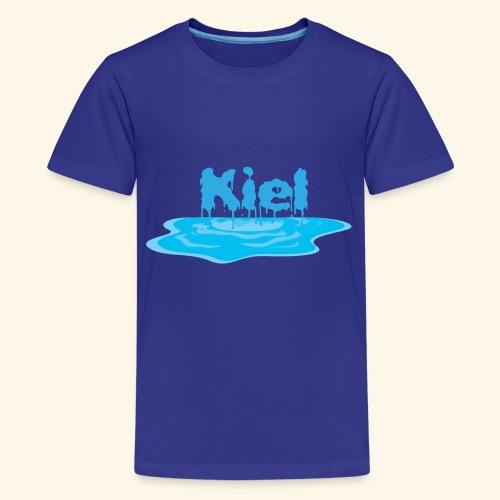 Kiel Tropfend Design Wasser Schrift - Teenager Premium T-Shirt