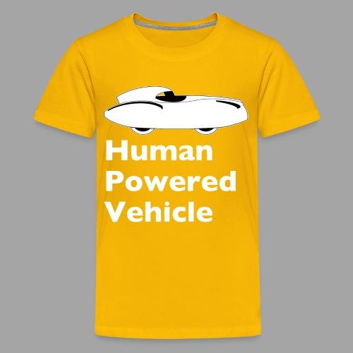 Quattrovelo Human Powered Vehicle white - Teinien premium t-paita