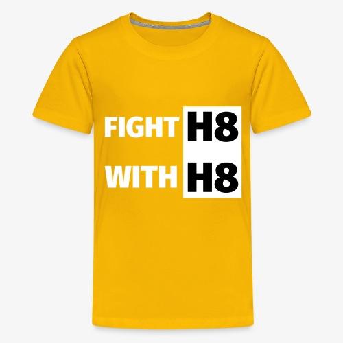 FIGHTH8 bright - Teenage Premium T-Shirt