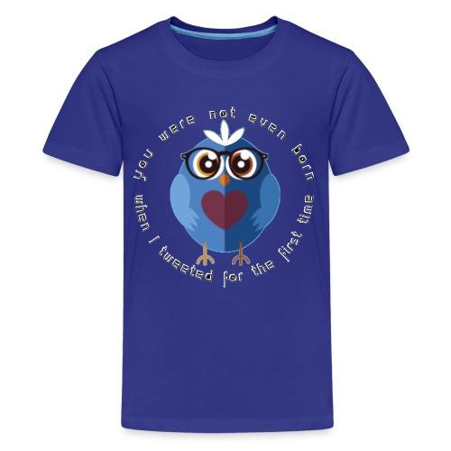 twitter - Teenager Premium T-Shirt
