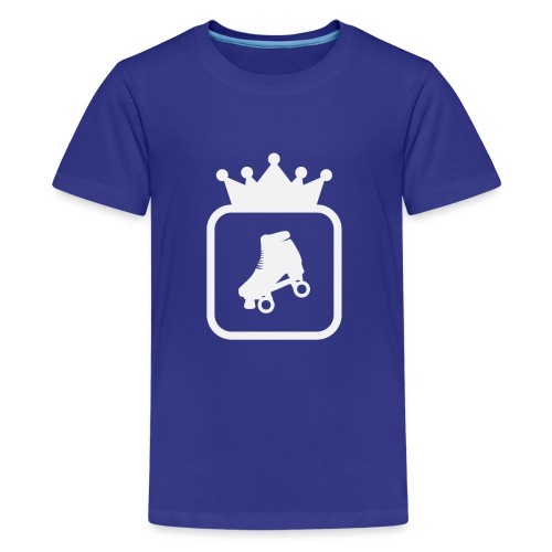Speedskater Skating Krone - Teenager Premium T-Shirt