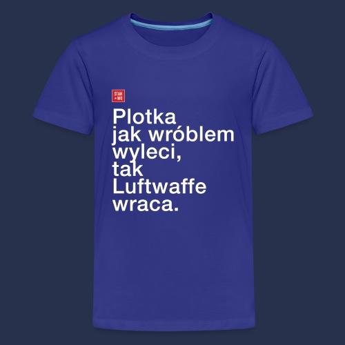 plotka - napis jasny - Koszulka młodzieżowa Premium