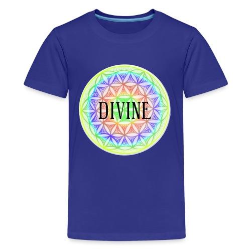 Mandala Blume des Lebens Divine, bunt - Teenager Premium T-Shirt