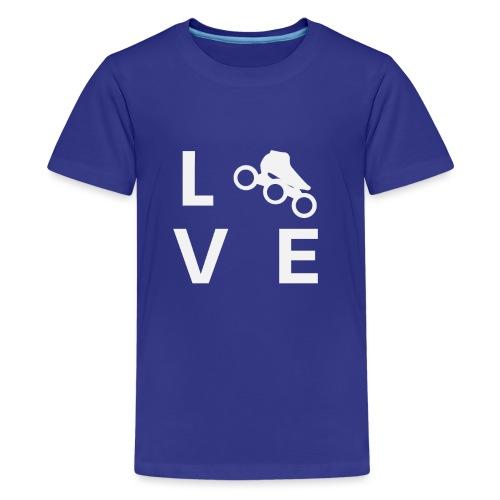 Speedskating Liebe - Teenager Premium T-Shirt