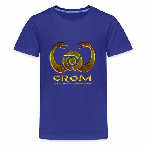 crom - Navegador web - Camiseta premium adolescente