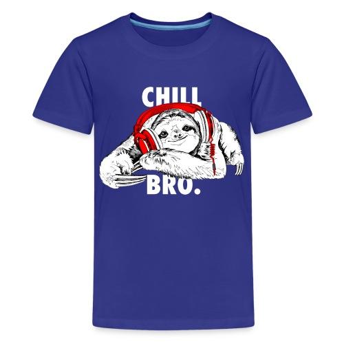 Lustiges Faultier mit Kopfhörern - Chill Bro - Teenager Premium T-Shirt
