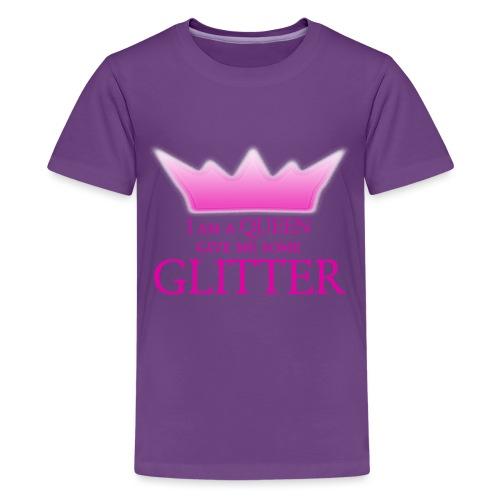 Glitter Queen - Teenager Premium T-Shirt