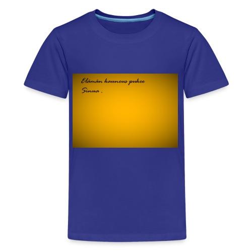 Kirje... - Teinien premium t-paita