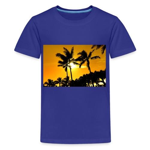 pam trees - Premium-T-shirt tonåring