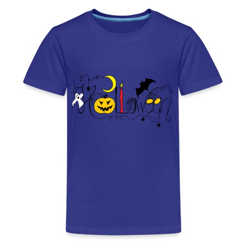 Halloween farbig - Teenager Premium T-Shirt