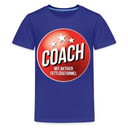 Fußball Coach Trainer Fett weg Soccer - Teenager Premium T-Shirt