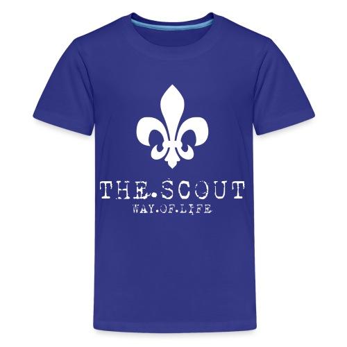 THE.SCOUT.WAY.OF.LIFE Typewriter mit Lilie Weiß - Teenager Premium T-Shirt
