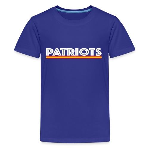patriots esp 02 blanco - Camiseta premium adolescente