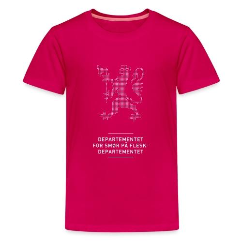 Departementsdepartementet (fra Det norske plagg) - Premium T-skjorte for tenåringer