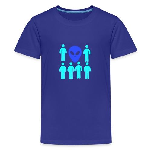 Extraterestre y Humano - Camiseta premium adolescente
