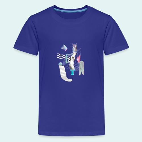 Virtual plaza - Teenager premium T-shirt