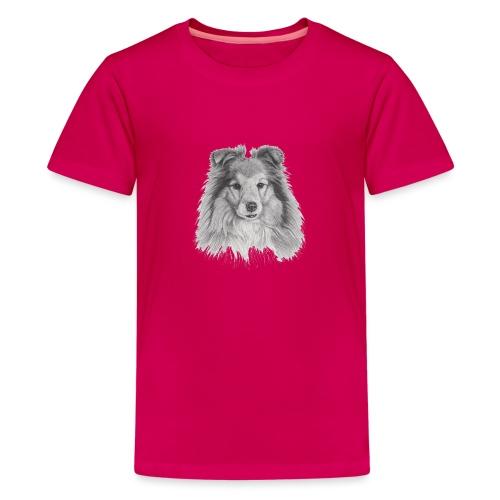 shetland sheepdog sheltie - Teenager premium T-shirt