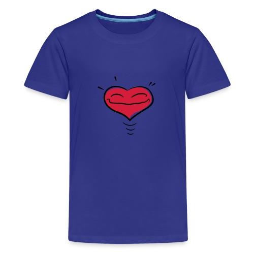 Herz - Teenager Premium T-Shirt