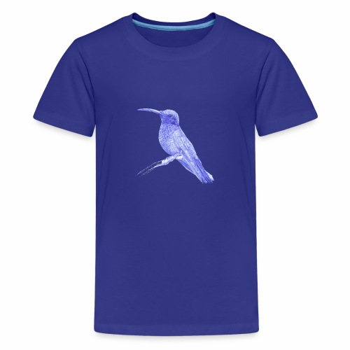 Hummingbird with ballpoint pen - Teenage Premium T-Shirt