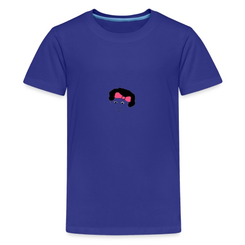 Girl with a bow in her hair - Teenage Premium T-Shirt