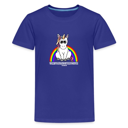 Einhorn Tekkno Regenbogen - Teenager Premium T-Shirt