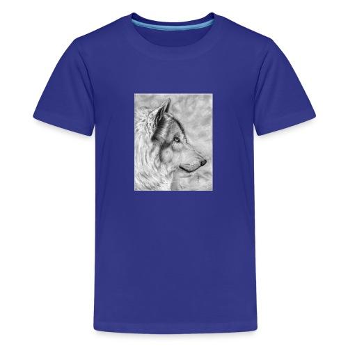 AAAAdibujo_plastica_lobo_jana-jpg - Camiseta premium adolescente