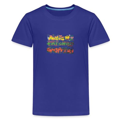 Autism Friendly Shopping Graffiti Style - Teenage Premium T-Shirt