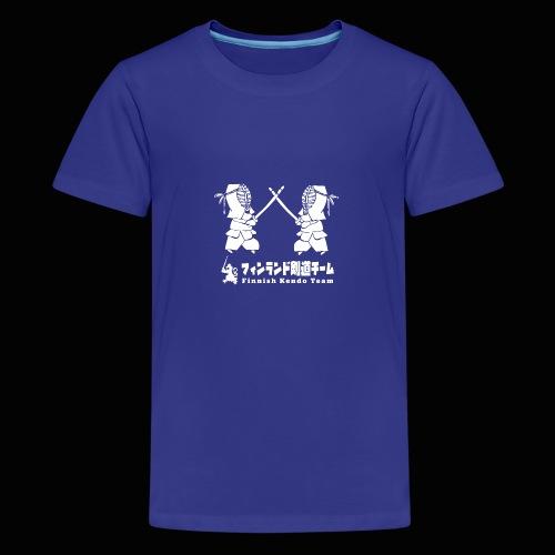 fka team logo white - Teinien premium t-paita