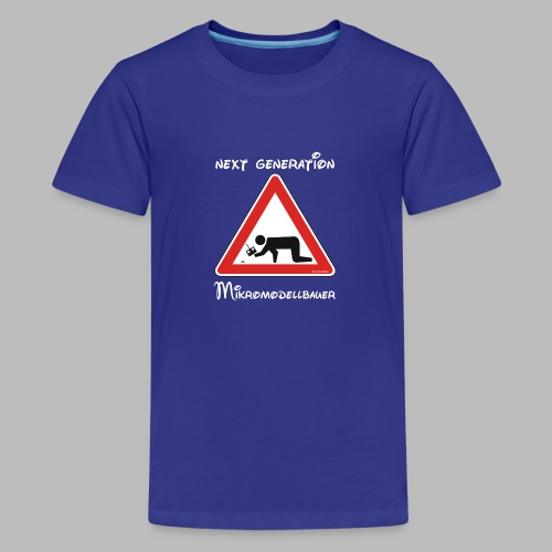 Warnschild Mikromodellbauer Next Generation - Teenager Premium T-Shirt