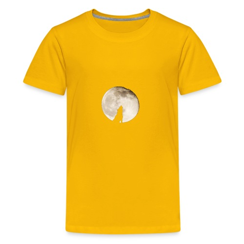 The wolf with the moon - T-shirt Premium Ado