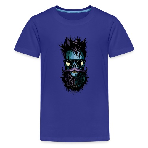 tete de mort lunette hipster crane skull soleil ba - T-shirt Premium Ado