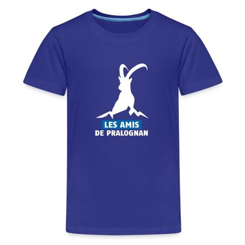 Logo Les Amis de Pralo grand blanc - T-shirt Premium Ado