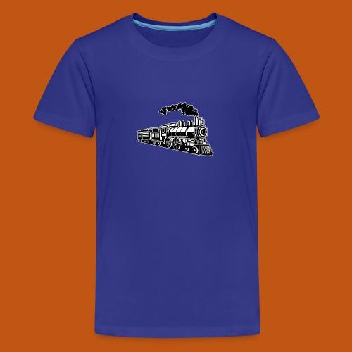 Lokomotive / Locomotive 02_schwarz weiß - Teenager Premium T-Shirt