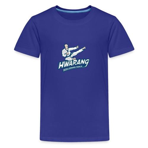 Hwarang logo v2 - Teinien premium t-paita