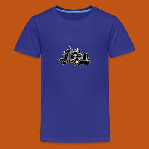 Truck / Lkw 03_schwarz weiß - Teenager Premium T-Shirt